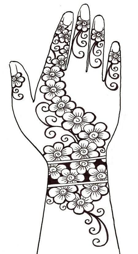 Coloriage et dessins gratuits Klimt La main décorée à imprimer