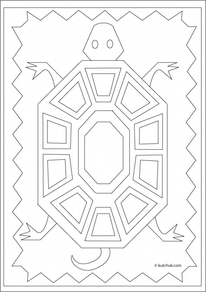 Coloriage et dessins gratuits Klimt La Tortue à imprimer