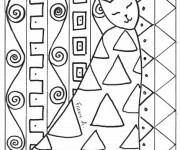 Coloriage et dessins gratuit Klimt Le chat à imprimer