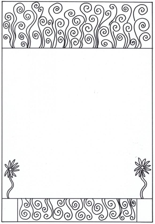 Coloriage et dessins gratuits Klimt Le vide à compléter à imprimer