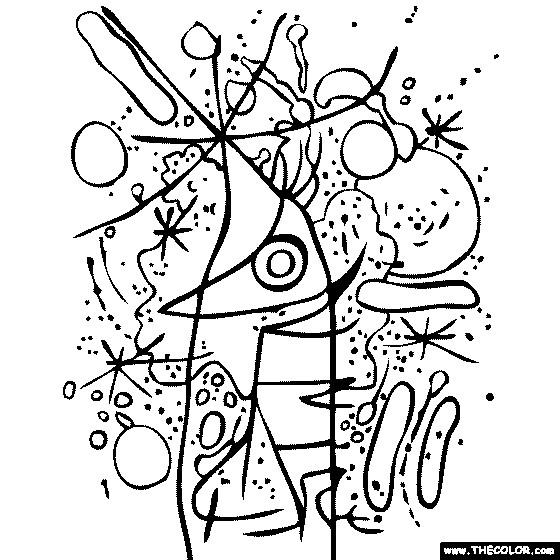 Coloriage et dessins gratuits Klimt maternelle à imprimer