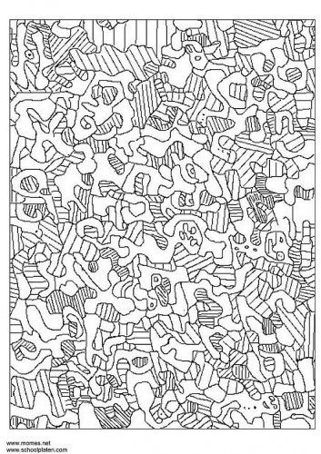 Coloriage et dessins gratuits Klimt Mosaique à imprimer