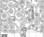 Coloriage et dessins gratuit Klimt pour adulte à imprimer