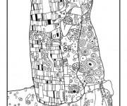 Coloriage et dessins gratuit Klimt pour relaxation à imprimer