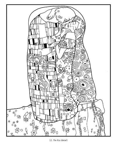 Coloriage et dessins gratuits Klimt pour relaxation à imprimer