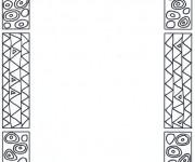 Coloriage et dessins gratuit Klimt stylisé à imprimer