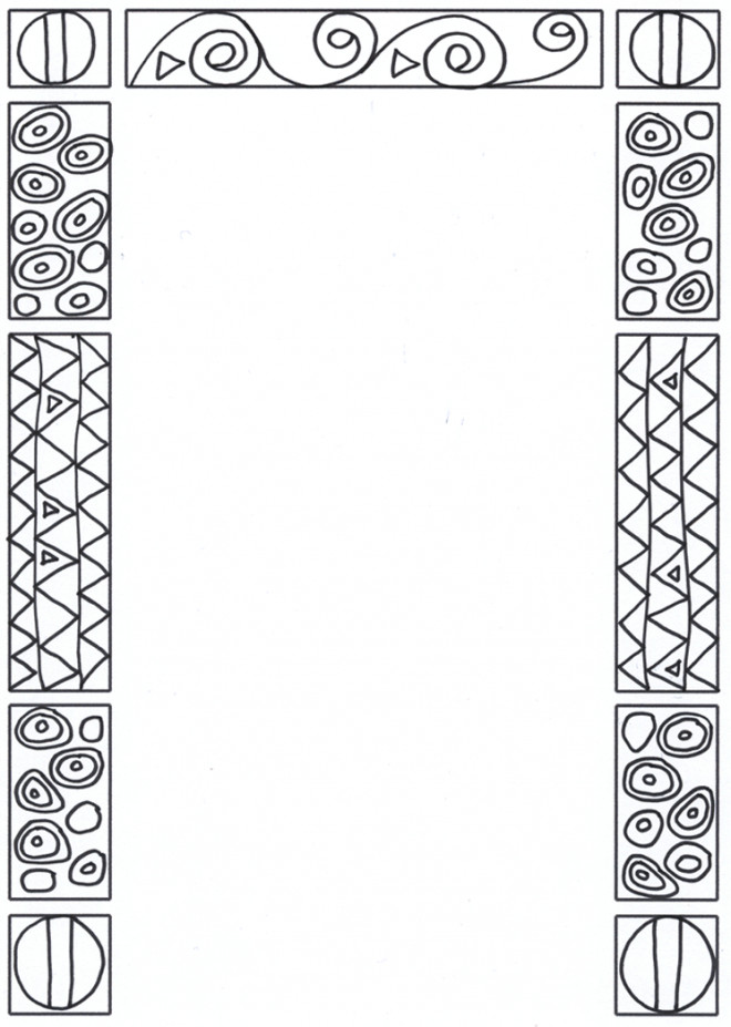 Coloriage et dessins gratuits Klimt stylisé à imprimer