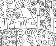 Coloriage et dessins gratuit Klimt symboliste à imprimer