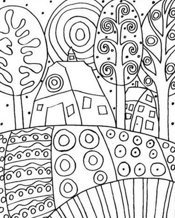 Coloriage et dessins gratuits Klimt symboliste à imprimer