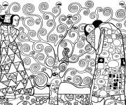 Coloriage Klimt Symoblisme