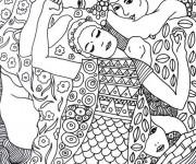 Coloriage et dessins gratuit Tableau de Gustav Klimt à imprimer