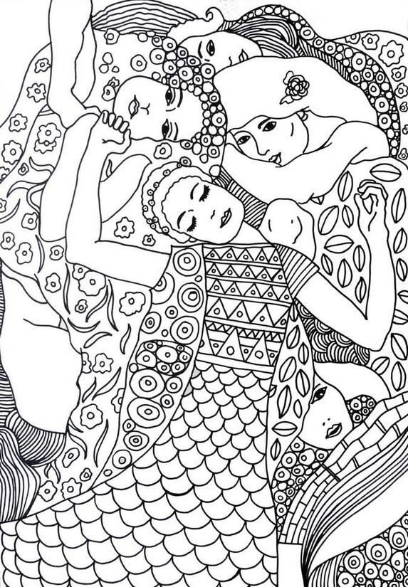 Coloriage et dessins gratuits Tableau de Gustav Klimt à imprimer