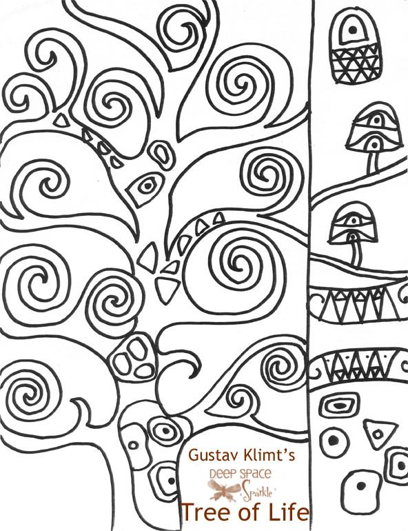 Coloriage A Imprimer Arbre De Vie.Coloriage Tableau Klimt Arbre De Vie Dessin Gratuit A Imprimer
