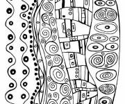 Coloriage Tableau Klimt extraordinaire