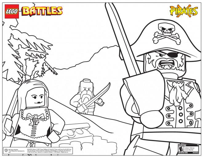 Coloriage et dessins gratuits Légo Bataille des Pirates à imprimer