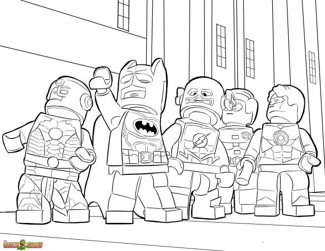 Coloriage et dessins gratuits Légo Batman à imprimer