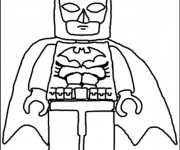 Coloriage Légo Batman Facile