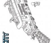 Coloriage et dessins gratuit Légo Camion de Police à imprimer