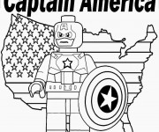 Coloriage Légo Captain America