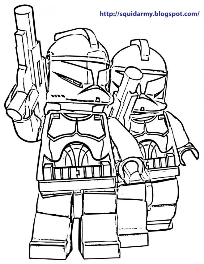 Coloriage et dessins gratuits Légo Film Star Wars à imprimer