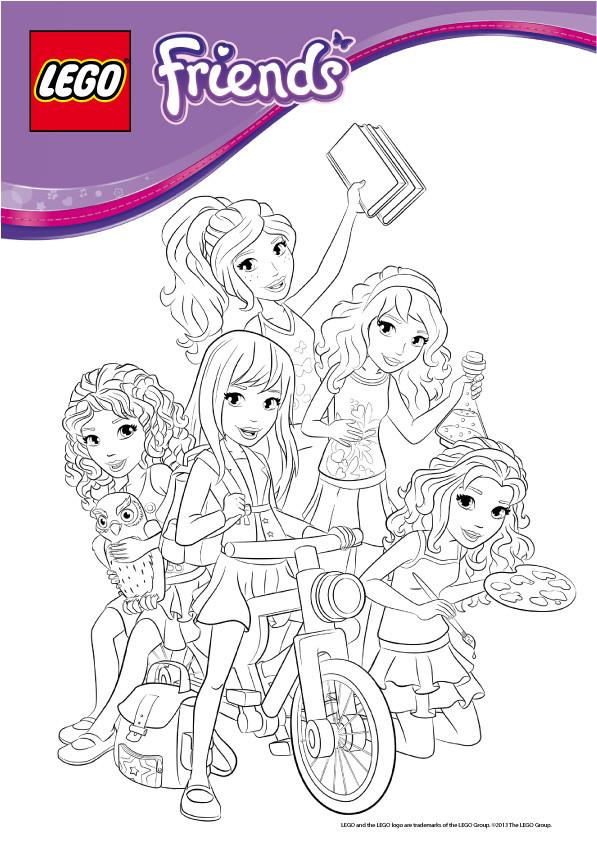 Coloriage et dessins gratuits Légo Friends pour enfant à imprimer