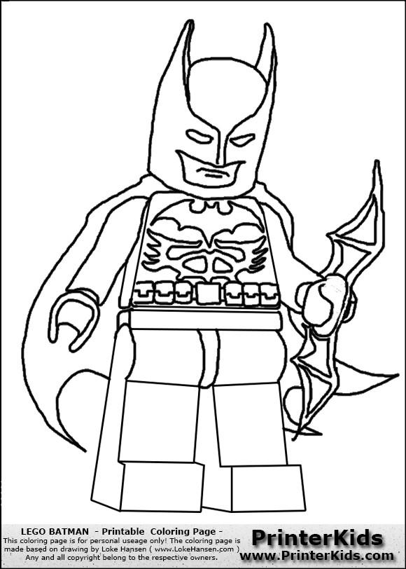 Coloriage et dessins gratuits Légo héro Batman à imprimer