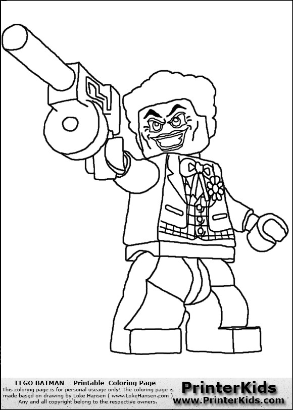 Coloriage et dessins gratuits Légo Joker et son Arme à imprimer