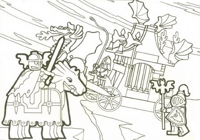 Coloriage et dessins gratuits Légo médiévale à imprimer