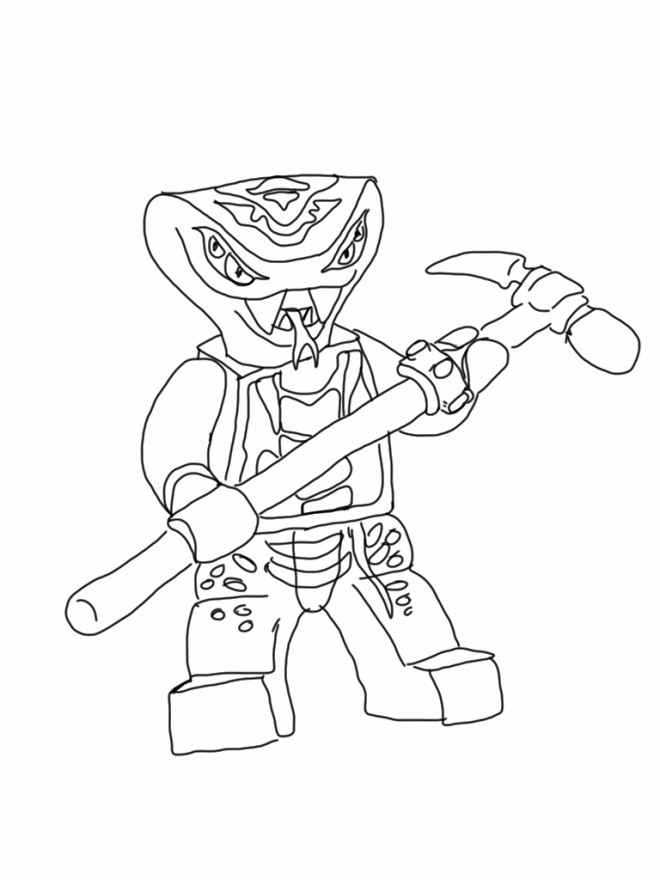 Coloriage et dessins gratuits Légo Ninjago Slithraa à imprimer