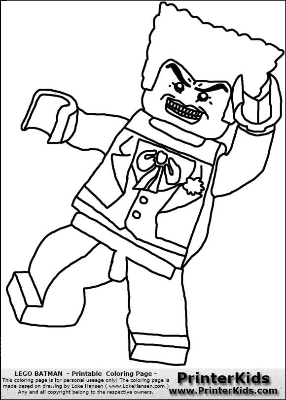 Coloriage et dessins gratuits Légo Personnage méchant à imprimer