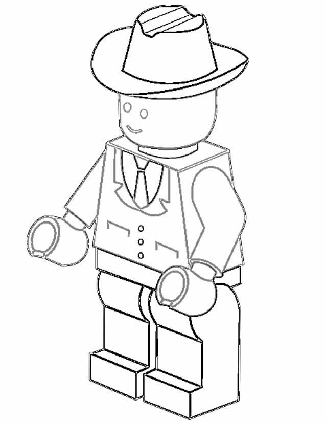 Coloriage et dessins gratuits Légo Personnage stylisé à imprimer