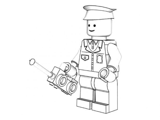 Coloriage et dessins gratuits Légo Policier à imprimer
