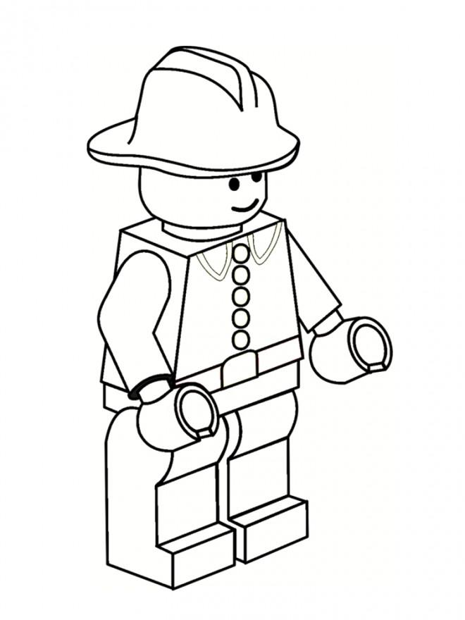 Coloriage et dessins gratuits Légo Pompier à imprimer
