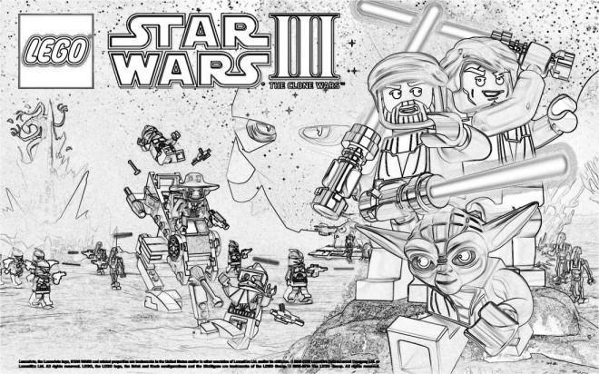 Coloriage et dessins gratuits Légo Star War  Affiche à imprimer