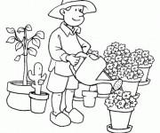 Coloriage et dessins gratuit Fleuriste à imprimer