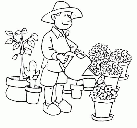 Coloriage et dessins gratuits Fleuriste à imprimer