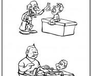 Coloriage Médecin humoristique