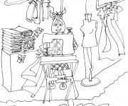 Coloriage et dessins gratuit Métier de vendeur à imprimer