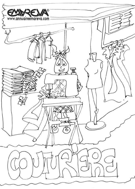 Coloriage et dessins gratuits Métier de vendeur à imprimer