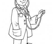 Coloriage et dessins gratuit Métier Docteur à imprimer