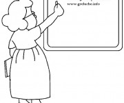 Coloriage et dessins gratuit Métier Enseignante à imprimer