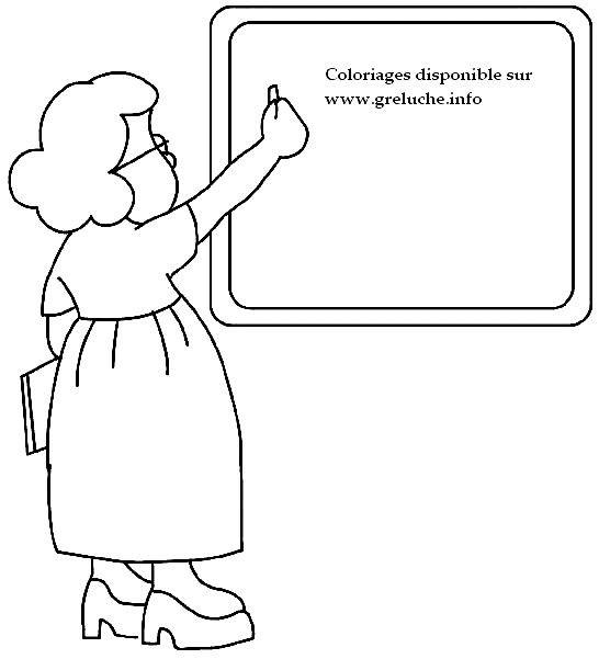 Coloriage et dessins gratuits Métier Enseignante à imprimer