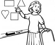 Coloriage et dessins gratuit Métier Maîtresse à imprimer