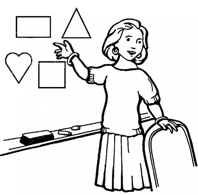 Coloriage m tier ma tresse dessin gratuit imprimer - Coloriage pour la maitresse ...
