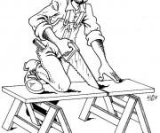 Coloriage et dessins gratuit Métier Menuisier à imprimer