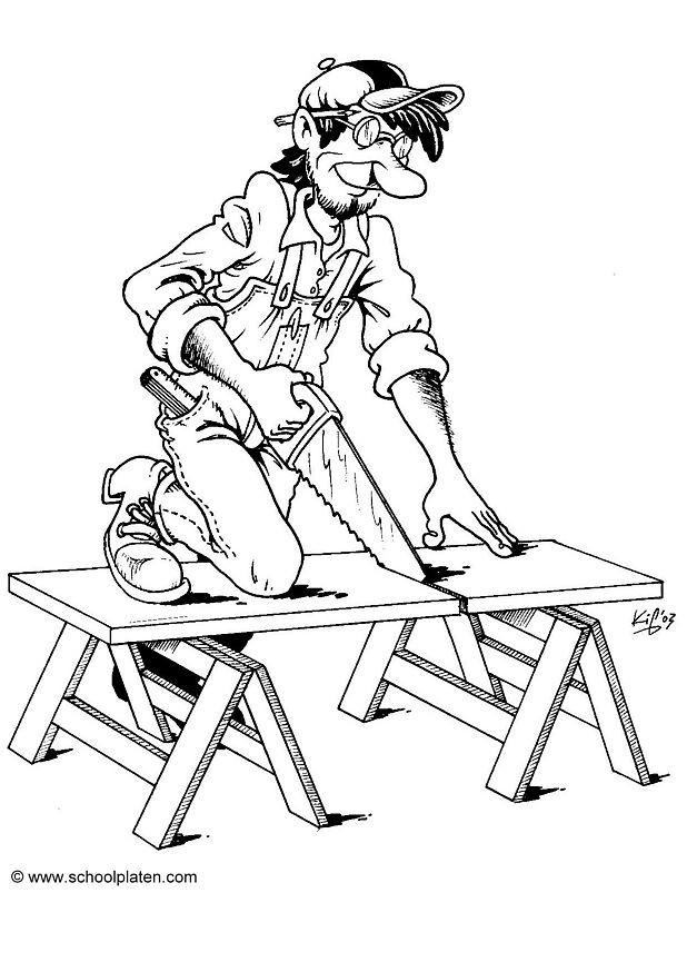Coloriage et dessins gratuits Métier Menuisier à imprimer