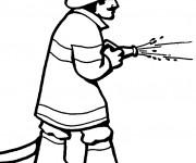 Coloriage et dessins gratuit Métier Pompier à imprimer