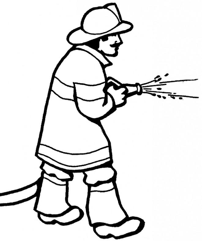 Coloriage et dessins gratuits Métier Pompier à imprimer