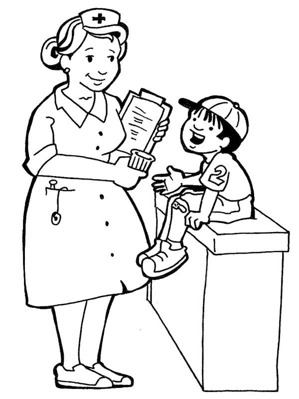 Coloriage et dessins gratuits Profession Infirmière à imprimer