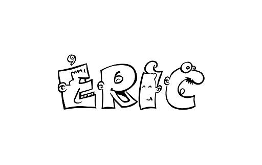 Coloriage et dessins gratuits Graffiti  Prénom Eric à imprimer